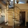 Escalier hélicoidal en inox poli miroir