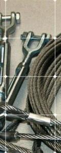 Câble inox disponible en diamètre 4 mm, 5 mm et 6 mm.