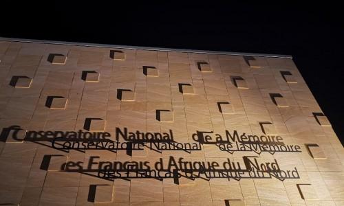 Enseigne en acier ep 10 mm. Conservatoire National de la Mémoire des Français d'Afrique du Nord. Aix en Provence