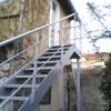 Pose escaliers droits exterieur en métal Toulon
