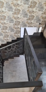Garde corps d'escalier façon Mucem. Usiné et découper en atelier.