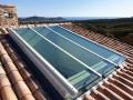 Puits de lumière dans une superbe demeure proche du village du Castellet. Verre spéciale toiture et capotage en tôle alu. Finition thermolaqué